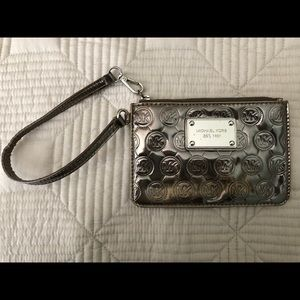 Michael Kors silver wristlet *Authentic*